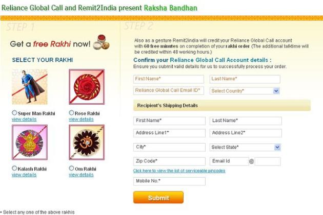 Reliance Global Call & Remit2India present Raksha Bandhan